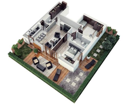 Wizualizacja rzut mieszkania 3d (3)