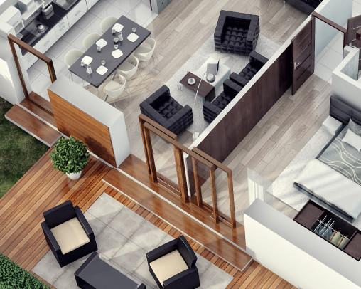 Wizualizacja rzut mieszkania 3d (4)